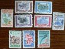 GUATEMALA: Yvert PA 189/97 ** (MNH) Orchidée, Oiseaux, Cyclisme, Equitation, Mammiferes... (serie Rare) Tirage 25000 Ex - Guatemala