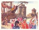 Grande Image / Port De La Rochelle , Jean De Béthencourt Avant Son Voyage Aux îles Canaries / ( Navire ) / BIM41 - Trade Cards