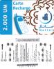 MAURITANIA - Mattel Recharge Card 2000 UM(paper), Used - Mauritania