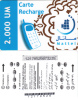 MAURITANIA - Mattel Recharge Card 2000 UM(thin Plastic), Used - Mauritanien