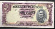 6 URUGUAY -Emitidos Desde 1939 A 1966- Bill. Nº 40-Bco. República O.del Uruguay-1 Bill. De 1000 - Uruguay