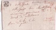 Lettre dat�e de Auvilers 1812 marque P94P/GENAPPE + PP ornement� de Bruxelles. RR