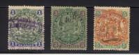 GB83) COLONIE INGLESI- RHODESIA 1896 98 Lotticino 3 Val  USED - Rhodesia Del Sud (...-1964)