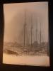 MARSEILLE - GRAND VOILIER DE COMMERCE -  BOIS DU NORD -  4 MATS - GRANDE PHOTO ORIGINALE Circa 1915 Taille 40cmx30cm - Photos