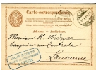 SUISSE-Entier Postal-1874-Genève-Usine De La COULOUVRENIERE-Gazométres-Jet D'eau - Enteros Postales