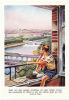 Grande Image / Enfant Rêveur En Culotte Courte / Pont Double Chemin De Fer Garçon / Bridge  // BIM 41 - Trade Cards