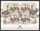 SLOVAKIA 2011.  SOS BIRDLIFE BIRDS BIRD OTIS TARDA THE GREAT BUSTARD MNH SHEET - Slovaquie