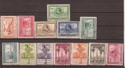 ES434-L1613TARSC.Spain Espagne.Lote EXPOSICIONES DE SEVILLA Y BARCELONA 1929.(Ed 434/47*) Con Charnela MUY BONITA - Arquitectura