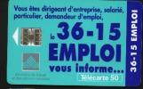 Télécarte 50u Utilisée Luxe     36.15 Emploi        F710   Du 12/ 1996 - France