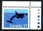 Canada 1987 Canadian Animals Definitives, 57c Killer Whale, MNH - 1952-.... Reign Of Elizabeth II