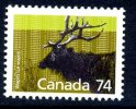 Canada 1987 Canadian Animals Definitives, 74c Wapiti, MNH - 1952-.... Reign Of Elizabeth II