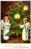 Angels Lighting Tree Fridfull Jul Merry Christmas Mini Postcard - Altri