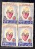 1972 PAKISTAN WORLD HEALTH DAY HEART MEDICAL BLOCK OF 4 UMM. - Pakistan