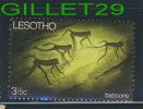 STAMP - LESOTHO, AFRICA - BABOONS - BABOUINS SINGE - 31/2 ç -  NO GUM - USED - - Lesotho (1966-...)