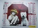 Almanach Du Facteur 1995 - ENFANCE Enfants Chien Parapluie  - VOSGES N°88 - LAVIGNE - LA POSTE - Formato Piccolo : 1991-00