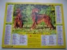 Almanach Du Facteur 1993 - SETTERS IRLANDAIS - BERGERS ALLEMANDS - VOSGES  N°88 - LAVIGNE - LA POSTE - Calendari