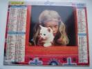 Almanach Du Facteur 1997 - Fillette Et Chien - Chat - Enfant - VOSGES  N°88 - LAVIGNE - LA POSTE - Formato Piccolo : 1991-00