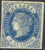 # Spain   55,  Mint, VF+, Og, Sound, SCV$37.50  (s055-5,,,,,[16- Ch - 1850-68 Royaume: Isabelle II