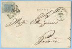 STORIA POSTALE VENETO 1868 EFFIGIE C.20 COPERTA 9.5.68 LEGNAGO TRANSITO AMBULANTE VERONA-UDINE A PADOVA (DCL3466) - 1861-78 Vittorio Emanuele II
