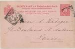 Entier Postal Weltevreden 1901 De La Sucrerie A Cheribon Java , Sugar Factory - Indonesia