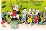 LION - Illustrateur-  MEILLEURS VOEUX -  Cpa Dos Non Divisé - écrite 1905- TBE- PAYPAL SANS FRAIS - Lion