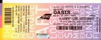 Ticket Concert Oasis Palais Omnisport De Bercy - 03 Mars 2009 - N° B0981090095 - Tickets De Concerts