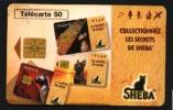 Télécarte 50u Utilisée Luxe   SHEBA Les Secrets           F635  Du 03/ 1996 - France
