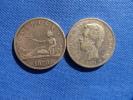 España Spain 2x 5 Pesetas Gob. Provisional + Amadeo I 1870, 1871 Silver Plata 25 G 0,900  Ver Fotos - [ 1] …-1931 : Reino
