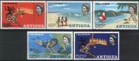 1968  Antigua Tourism Turismo Beach Scuba Landscape  Scott 2003/07 MNH - 1960-1981 Autonomie Interne
