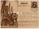 Carte De Propagande Allemande- Nazi  - Entier Postal -  Nationaler Feiertag 1934 Circulé Le  2/5/34 TBE - Guerre 1939-45
