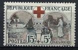 """FR YT 156 """" Croix-Rouge15c. +5c. Noir Et Rouge """" 1918 Neuf* - France"""