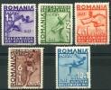 Roumanie (1937) N 525 à 529 * (charniere) - 1918-1948 Ferdinand I., Charles II & Michel