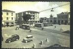 GIULIANOVA Piazzale Stazione Animato Con PULMANN/BUS Fiat Belvedere+500 Cartolina  Viaggiata 1958 - Italia