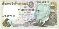 BILLETE DE PORTUGAL DE 20 ESCUDOS ORO  AÑO 1978   (BANKNOTE) SIN CIRCULAR - Portugal