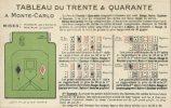 CPA Jeux De Cartes Au Casino - Tableau Du Trente Et Quarante à Monte-Carlo - Cartes à Jouer