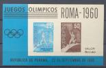 Panama Nr :  Bl Roma 1960 ** MNH (zie Scan) Toning On Gum - Panama