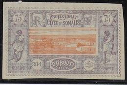 COTE DES SOMALIS - YVERT N° 16 SANS GOMME - COTE = 63 EUROS - Côte Française Des Somalis (1894-1967)
