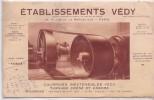 Buvard - Etablissement Védy  - Couroies Inextensibles Védy - Tannage Chêne Et Chrome - Blotters