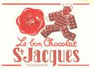 Buvard Chocolat St. Jacques. - Chocolat