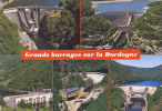 Les Grands Barrages Sur La Haute-Dordogne : L´aigle / Bort / Argentat / Marèges / Chastang - Circulée En 1995, 2 Scans - Non Classés