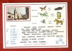 CPSM 10X15  . USSEL  (19 )  Illust .Adjectifs à Souligner  + Mini Vue Eglise Et Place Du Village - Ussel