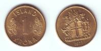 Iceland 1 Krona 1973 (thin 3) - Islandia