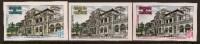 CAMBODIA 1971 POST OFFICE IMPERF BUILDING SC # 252-254 - Cambogia