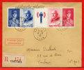 FRANCE 571A SUR LETTRE FDC DU 08/02/1943 DE CASTRES POUR TOULOUSE COVER - Frankreich