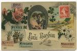 Langage Porte Bonheur Rose , Pensée, Muguet, Myosotis, Marguerite, Fer A Cheval, ELD - Tarjetas De Fantasía