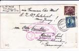 1928 - LETTRE Par ZEPPELIN LZ 127 De CHICAGO (USA) Pour RAIN (GERMANY) - VIGNETTE AU DOS - Zeppelins