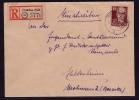 SBZ: Einschreibenbrief Einzelfrankatur Köpfe 1, Gelaufen 1951 ! - Zone Soviétique