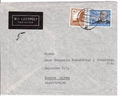 1937 - TIMBRE ZEPPELIN YVERT N°PA 53 (COTE = 60 EUROS) Sur ENVELOPPE Par AVION De HAMBURG Pour BUENOS AIRES (ARGENTINE) - Zeppelins