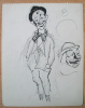 Dessin Double-face Original De Victor VIKO (1915-1998) JUDAICA - CLOWN - CIRQUE - CIRCUS - Drawings