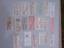 Capicua Colección Antigua Billetes Tranvia Y Bus, Serie 60000. Palindromic Tickets.Ver Foto Auténtica. - Bus